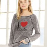 I LOVE SOCIAL DISTANCING WOMENS CREW FLEECE Thumbnail