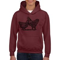 GILDAN® HEAVY BLEND™ HOODED YOUTH SWEATSHIRT 18500B Thumbnail